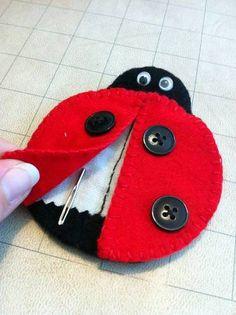 ladybug needle case for tapestry needles