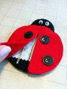 ladybug needle case for tapestry needles