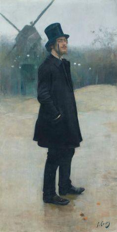El Bohemio, Poet of Montmartre by Ramon Casas, 1891