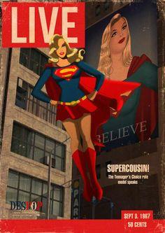 despopart: Supergirl LIVE cover- by Des Taylor Comic Book Characters, Comic Character, Comic Books, Dc Comics, Comics Girls, Superman Family, Batman And Superman, Lego Batman, Batwoman