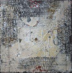 De Kus - Gemengde techniek op linnen - 60 x 60 cm - 2011