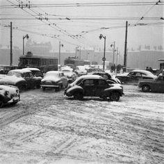 Lyon - France  4 CV and 2 CV Winter 1956