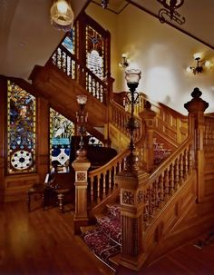 Superbe From The Victorian Elijah Thomas Webb Home Here Is A Pic Of The Grand  Staircase Of