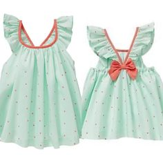 Kids Outfits Girls, Family Outfits, Toddler Girl Outfits, Toddler Dress, Baby Dress, Little Dresses, Girls Dresses, Baby Girl Dress Patterns, Kids Fashion