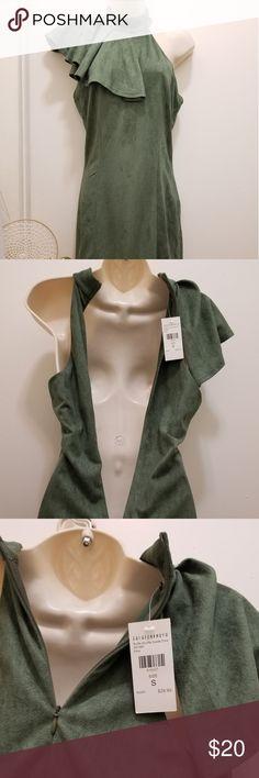 31e0eb7feb8c Olive Fashion Nova suede dress Ruffle Shuffle Suede Dress - Olive. NWT  never worn Fashion