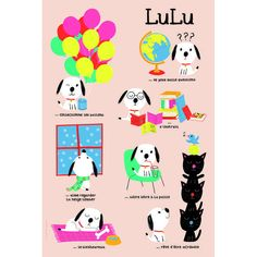 Poster Lulu - on sale - only 8 EUR from  Poisson Bulle