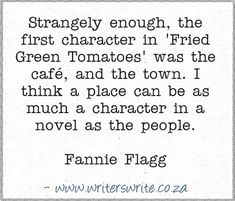 Quotable - Fannie Flagg - Writers Write Creative Blog