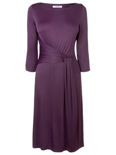 L.K. Bennett Celosina Twist Front Dress, Dark Purple