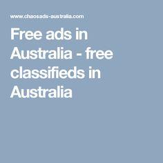 Free ads in Australia - free classifieds in Australia