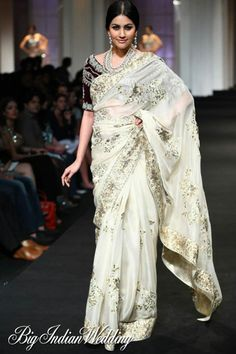 Ashima-Leena Aamby Valley India Bridal Week 2012 | Lehengas & Sarees | Bigindianwedding. I would wear this with a white blouse
