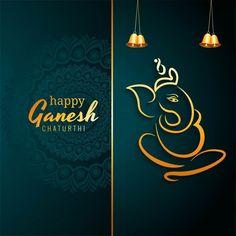 Ganesh Chaturthi Greetings, Ganesh Chaturthi Images, Happy Ganesh Chaturthi, Lord Ganesha Paintings, Lord Shiva Painting, Background Banner, Geometric Background, Free Vector Graphics, Vector Art