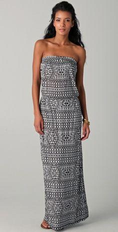 Velvet Kamaria Strapless Maxi Dress
