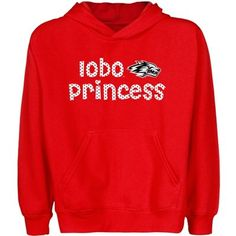 For the girls! New Mexico Lobos Youth Princess Pullover Hoodie - Cherry #Fanatics #Ultimate Tailgate