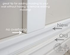 Great trick to have board and batten sit evenly on baseboards without having to remove existing baseboards! life Square Board and Batten Wall Treatment and Master Bedroom Makeover Young House Love, The Plan, How To Plan, Home Improvement Projects, Home Projects, Latte, Do It Yourself Inspiration, Moldings And Trim, Moulding