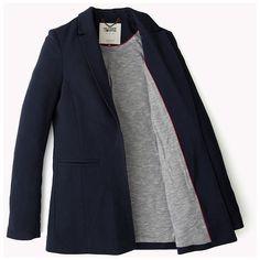 Ausgestellter Blazer (560 BRL) ❤ liked on Polyvore featuring outerwear, jackets, blazers and blazer jacket