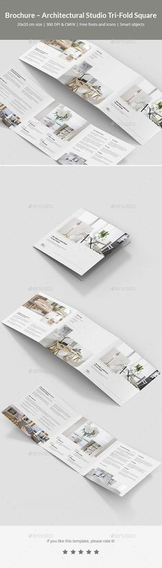 Buy Brochure – Architectural Studio Tri-Fold Square by artbart on GraphicRiver. Brochure template is designed for use in many businesses. You can use this template for: architect, architectural stu. Stationery Printing, Stationery Design, Brochure Design, Brochure Template, Color Photoshop, Photoshop Shapes, Grafik Design, Print Templates, Corporate Brochure