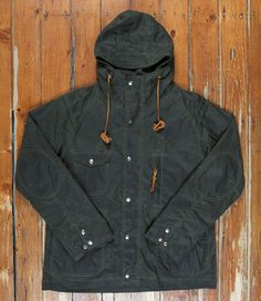 """Waxed parker from Monitaly. The question is, do I go """"heritage"""" or """"technical"""" for a rainy day parka?"""