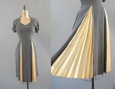 1940s Dress. Likes like fun to swoosh in :) I'm already seeing some fun color schemes!