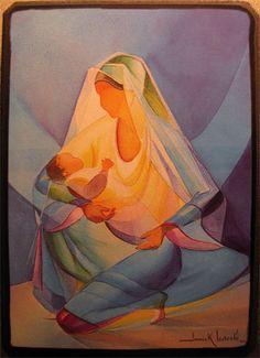 peinture Vierge et enfant - Recherche Google