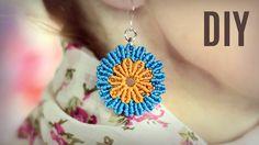 Round Macramé Flower Earrings Tutorial by Macrame School