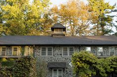 Fall color is starting to emerge at the carriage house! Photo by Mae Axelrod. Natural Garden, Carriage House, Acre, Home And Family, Cabin, House Styles, Fall, Color, Home Decor
