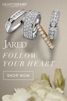 Shop the Jared exclusive collection Hearts Desire. Find ideal-cut diamond jewelry such as engagement rings, wedding rings and other diamond fashion jewelry at Jared. Ideal Cut Diamond, Green Diamond, Opal Jewelry, Cute Jewelry, White Gold Rings, Wedding Ring Bands, Jewelry Stores, Just For You, Engagement Rings