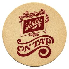 Saved by Brian Danaher (madeforending). Discover more of the best Typography and Beer inspiration on Designspiration Beer Cap Coasters, Bar Coasters, Beer Images, Sous Bock, Schlitz Beer, Beer Caps, Beer Brands, Wine And Liquor, Beer Signs