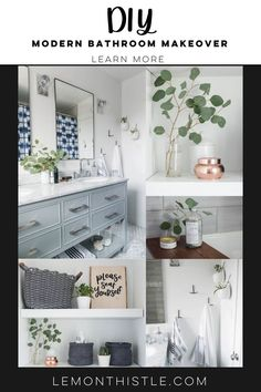 This bathroom is classic to the bones with modern details and it's safe to say I'm smitten with this space. #modernbath #DIYBathroom Eclectic Bathroom, Diy Bathroom Decor, Modern Bathroom, Small Bathroom, Bathroom Ideas, Bathrooms, Blogger Home, Modern Baths, Traditional Bathroom
