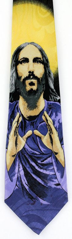 New Our Saviour Mens Necktie Christian Religious Christ Jesus Bible Neck Tie #StevenHarris #NeckTie
