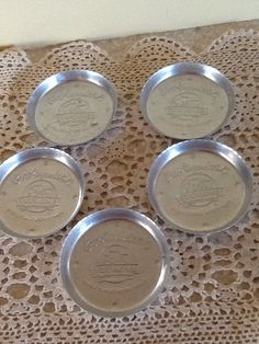 Set of 5 Stanhome Coasters by ContemporaryVintage on Etsy, $10.00