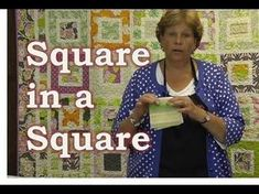 ▶ Make the Square in a Square Quilt Tutorial - YouTube MSQC...with one jelly roll, one charm pack and one honeybun!