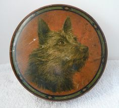 Keiller confectionery tin Vintage Dog, Vintage Tins, Terrier Dogs, Terriers, Vintage Sweets, Norfolk Terrier, Old Things, Things To Come, Tin Boxes