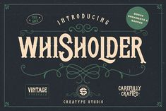 Whisholder Vintage & Ornaments by Creatype Studio on @creativemarket