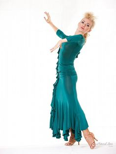 Natural Spin Signature Dance Tops(Long Sleeve):  LTL20_TURQUOISE