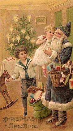 "Photo from album ""История платья"" on Yandex. Vintage Christmas Images, Noel Christmas, Victorian Christmas, Christmas Pictures, Christmas Greetings, Christmas Postcards, Father Christmas, Xmas, Illustration Noel"