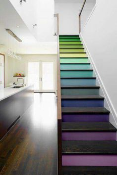 Multi-colour stairs