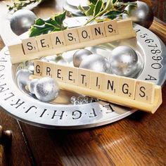 This is cute! When Gabe gets older, he can change it weekly to say something else during the Christmas season. It could also work year round with different phrases. Oh, many ideas just popped into my head.