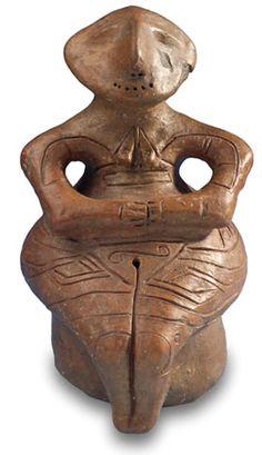 """""""Vénus de Parzadzik """" culture Vinca, la plus ancienne culture néolithique en Europe du Sud-Est, période -5500 -4500 avant J.C."""