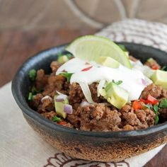 """10 Minute """"No Chop"""" Low Carb Chili"""