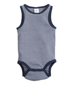 organic cotton sleeveless bodies--H&M