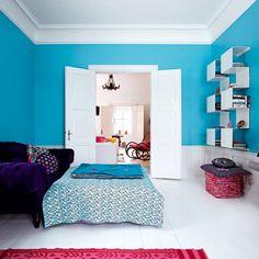 La salle de télé et ses fauteuils extra Large, décoration, décoration colorée
