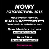 Fotofestiwal 2015 w Łodzi - 28 maja do 7 czerwca 2015 r.