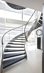 modern stairs design ideas ideas stunning modern staircase design for homes with black wooden staircase mounted on the chrome metal stairs frame and clear glass fence also black metal