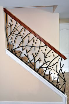 11 Useful Modern Stairs Grills Photos - Stairs Architecture Metal Stair Railing, Railing Design, Diy Stairs, Staircase Railings, Wrought Iron Stairs, Staircase Railing Design, Stairs Design, Stairs