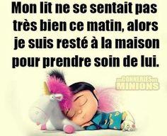 Mignon lit loooool Minions, French Quotes, Haha, Poems, Funny Quotes, Smile, Type 1, Disney, Funny Stuff