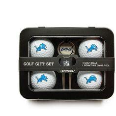 Team Golf NFL Detroit Lions 4 Golf Ball And Divot Tool Set, Silver