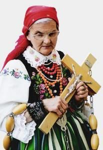 Catholics in Poland comprise 90% of the country
