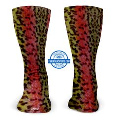 Rainbow Trout Socks, make a great gift for a Fly Fisher.