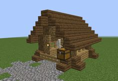 Small Wooden Horse Stable - GrabCraft - Your number one source for MineCraft buildings, blueprints, tips, ideas, floorplans! Minecraft Wooden House, Minecraft Building Designs, Minecraft Barn, Minecraft Interior Design, Minecraft Room, Minecraft Blueprints, Minecraft Projects, Minecraft Crafts, Horses