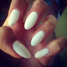 Simple all white nails